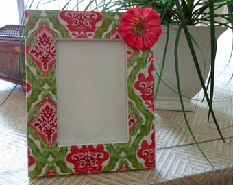 4 x 6 Fabric Decoupage Picture Frame