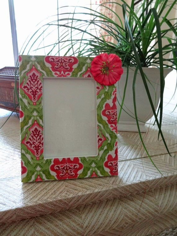 4 x 6 fabric decoupage picture frame from thelemonleaf on for Fabric picture frames