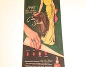 Vintage Ad Cutex Nail Polish 1940s Glamour vintage nail polish ad Schiaparelli Evening Dress 1945 Paris Reborn Nail color Vintage Fashion