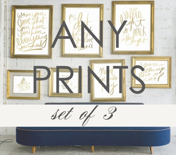 Office Wall Decor Set : Items similar to typography gallery wall art customize any