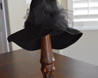 Childrens Halloween Witch or Wizard Hat, Child Size Witch Hat, Black Witch Hat, Wizard Hat, Made to Order