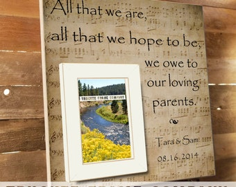 PARENTS THANK YOU Wedding Frame, Thank You Gift , Father of the Bride, Grooms Parents, In-Laws Gift, Mother of the Groom, Father of Groom