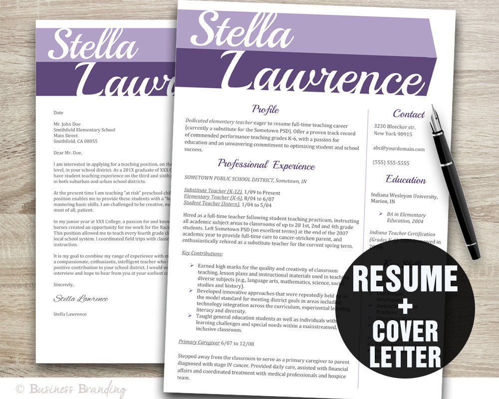 designer resume template instant download resume cover