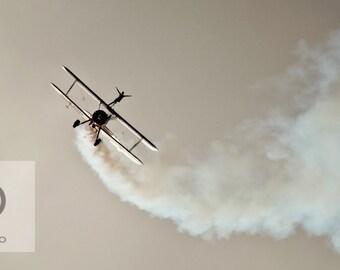 "Dramatic aerial Photography, ""Wingwalker"" sepia Art Print"