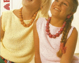 Instant Download - PDF- Vintage Patons Easy Ladies and Girls Top Knitting Pattern (K21)