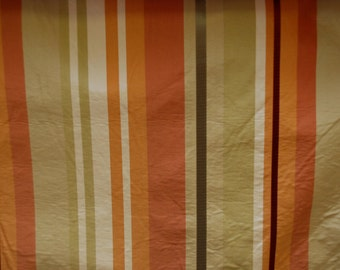 Summer Stripes Silk Upholstery Fabric - Citrus Colors Silk Stripe - Silk Stripe for Bed Skirts - Silk Stripe Pillows - Silk Stripe Draperies