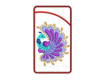 The bird of good luck. Case for glasses or cell phone. In the hoop. Design for embroidery. In the two size.