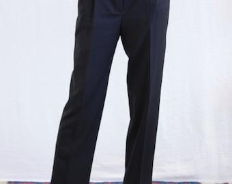 Vintage Made in France Black Wool Pants, designer unknown