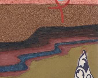 Canyon.  Original Contemporary Christian Art Painting Mixed Media