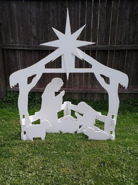 Christmas Outdoor Decorations Nativity : Search results for wooden nativity yard art calendar