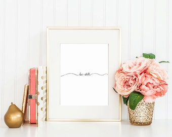 Hand Lettered Calligraphy Print / Be Still / Calligraphy Wall Art
