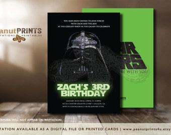 Star Wars Birthday Party Invitation - Printed OR Digital File - by peanutPRINTS