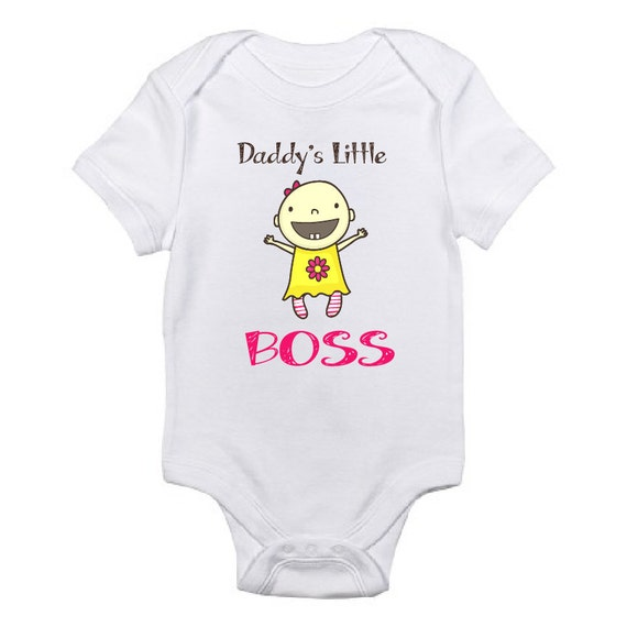 Daddy s little boss cute shirt baby girl baby by stylishlittles