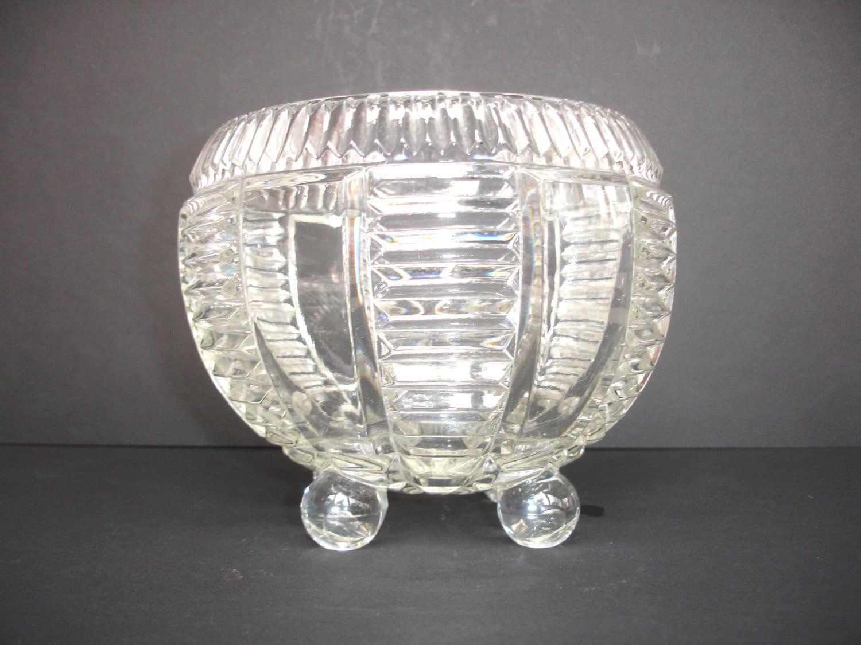 Art Deco Glass Vintage Bowl Bon Bon Vase Vintage by FillyGumbo