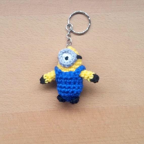 Items similar to Mini amigurumi Minion Keychain on Etsy