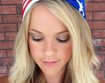 American Flag headband, Patriotic headband, Fourth of July headband, Turban headband, Turban american flag headband, Labor Day headband,