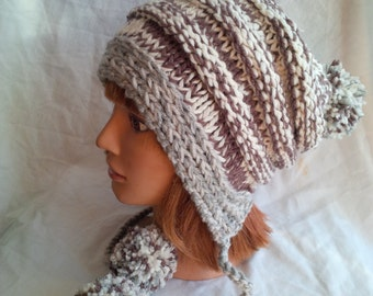 Slouchy Pom Pom Hat Pattern