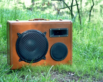 LARGE Portable Suitcase Boombox