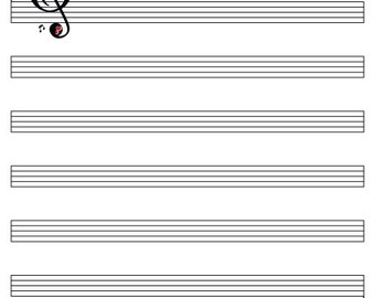 Music Sheet Guest Book Print