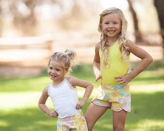Coachella Shorts PDF Sewing Pattern ... Sizes 6mos-12yrs