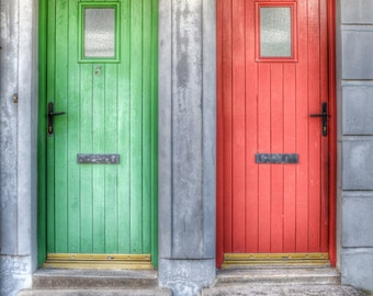 Ireland Photography, Irish Doors, Ireland Street Photo, Dingle Peninsula, Irish Home Decor, Ireland Print, Architecture, Doors