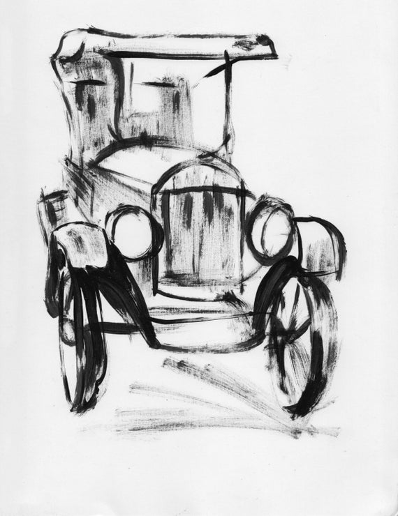 1920s Cars Drawing Ford Car Drawing 1920s