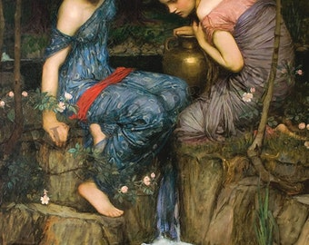 "John William Waterhouse ""Nymphs finding the Head of Orpheus"" 1900 Reproduction Digital Print  Wicca Pagan Celtic"