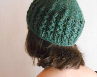 Forest-Green Elfin Hat