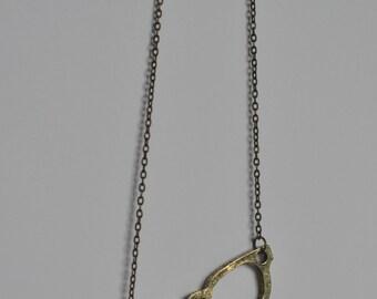 SALE! Retro Glasses Bronze Colour Pendant Necklace