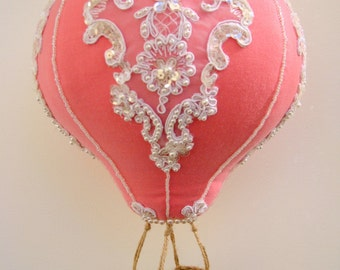 Baby mobile - Vintage glamorous beaded Hot air balloon mobile nursery decoration