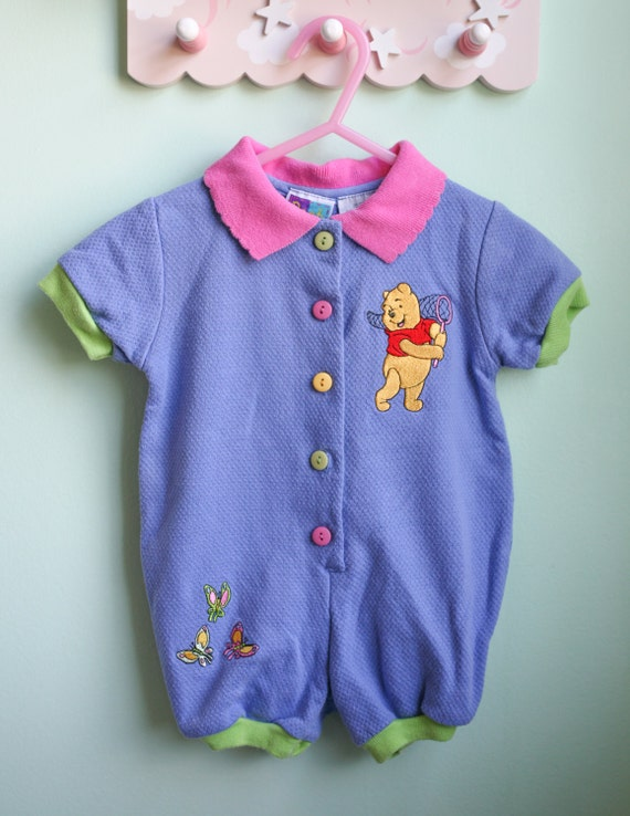 vintage baby clothes baby girl winnie the pooh romper