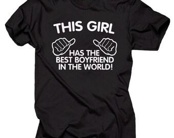 The Best Boyfriend In The World T-Shirt Couple Tee shirt anniversary shirts Gift For Girlfriend Tee Shirt