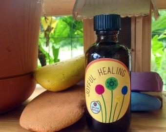 Joyful Healing- Skin Oil - Grapeseed Oil- Bergamot - Clary Sage - Many Uses