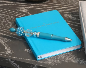 Statement Pen™ Turquoise Dazzle Bead Pen