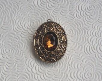 Vintage Avon Perfume Locket Pendant/Brooch