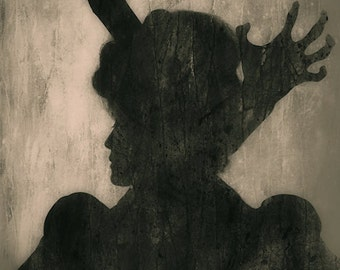 Dislocated 2 - FREE SHIPPING Surreal photo print Creepy portrait Dark art Woman with arms coming out of her head Black Silhouette Shadow