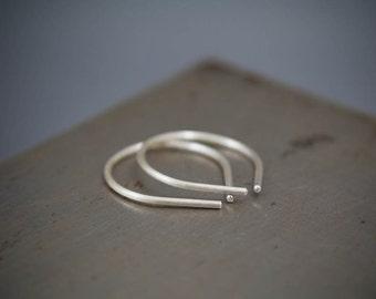 Simple Silver Earring, Sterling Silver Jewelry, Minimalist Earring, Modern Jewelry
