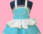50% SALE!! Princess Costume - Size Medium Girl's Apron, Girls Princess Apron princess dress Ready To Ship!!