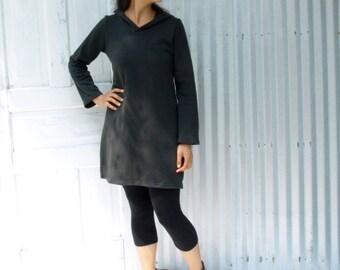 Spruce Tunic ~ Hooded Dress ~ Hemp & Organic Cotton Fleece ~ Made to Order