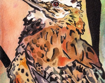 Arizona's State Bird - Original Watercolor Painting of the Cactus Wren - Bird Art by Jen Tracy