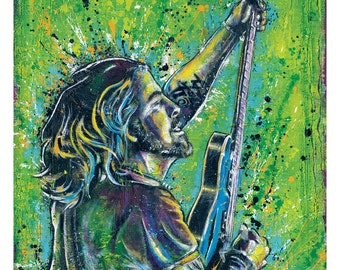"12"" x 18"" Print - Dave Grohl - Nirvana Foo Fighters - Poster Art Print Pop art rock music"