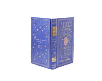 Alice in Wonderland Engagement Ring Holder Hollow Book Box Heart Circle Square Cut Ribbons Ring Bearer Wedding Rings Blue - CUSTOM ORDER