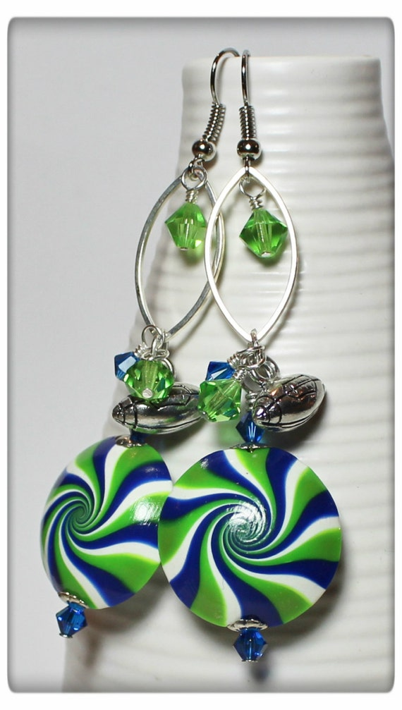 handmade jewelry seattle seattle seahawks handmade jewelry earrings beaded by 9391