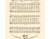 Nearer My God To Thee - Custom Christian Home Decor - Hymn Wall Art - VintageVerses Sheet Music Art - Inspirational Wall Art - Cross Heaven
