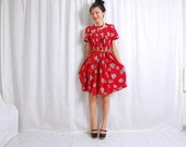RESERVED. Happy Hour Red Vintage Dress