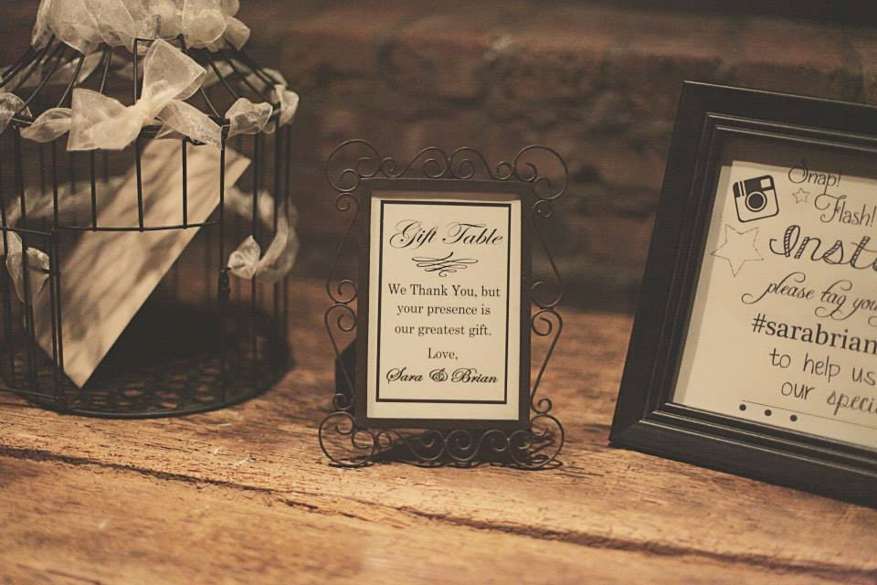 Thank You Wording For Wedding Gift: Wedding Gift Sign Reception Table Sign Thank You Sign From