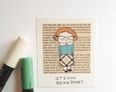 Funny Magnet, Smart Geek Nerd, School Girl, Plaid, Its fun being smart