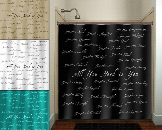 Beautiful You Positive Word Inspirational Shower By Tablishedworks