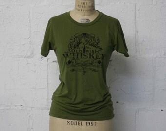 SALE Women's Irish Whiskey Tee Shirt , Irish Green T-Shirt