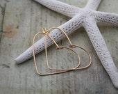 Heart Earrings Heart Jewelry Wire Heart Valentine Earrings Valentine Jewelry Valentine Gift Heart Shaped Earrings Sweetheart Earrings 049